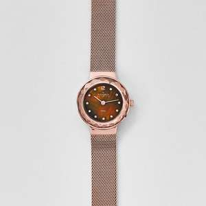 Leonora Rose Gold-Tone Steel-Mesh Watch (Extra 15% With Newsletter Sign-up) £69 Free Delivery @ Skagen