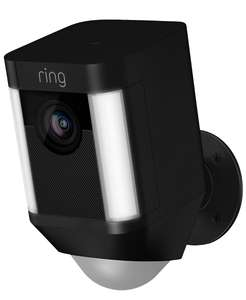 Ring Spotlight Cam Smart Security Camera with Built-in Wi-Fi & Siren Alarm, Battery Powered, Black £149 at John Lewis & Partners