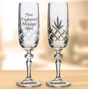 25% off Engagement Glassware with voucher Code @ Funky Pigeon