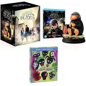 Fantastic Beasts & Where To Find Them + Ltd Edit Statue (3D / Blu-Ray) £22.49 / Suicide Squad BR Filmbook - With New User Code @ Warnerbros