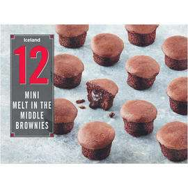 12 Mini Melt in the Middle Brownies 240g - £1.50 at Iceland