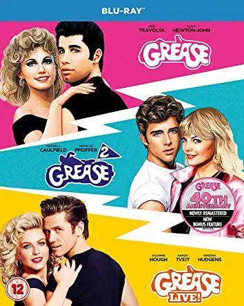 Grease 40th anniversary triple blu ray boxset grease/grease 2/grease live £7.99 Prime / £10.98 Non Prime Sold by TVserieshop BVBA and FBA