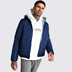 Quilted Zip Through Jacket with Hood - £11.99 Delivered @ boohooMAN