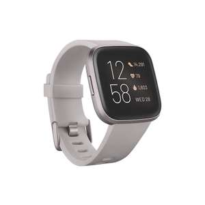 Fitbit Versa 2 Health & Fitness Smartwatch with Voice Control, Sleep Score & Music, Stone/Mist Grey £135.87 @ Amazon