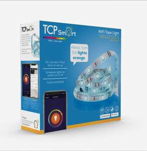TCP Smart WiFi Dimmable Colour Changing to Warm White 3m Tape Light - £20.24 (with code) @ Robert Dyas (Free Click & Collect)