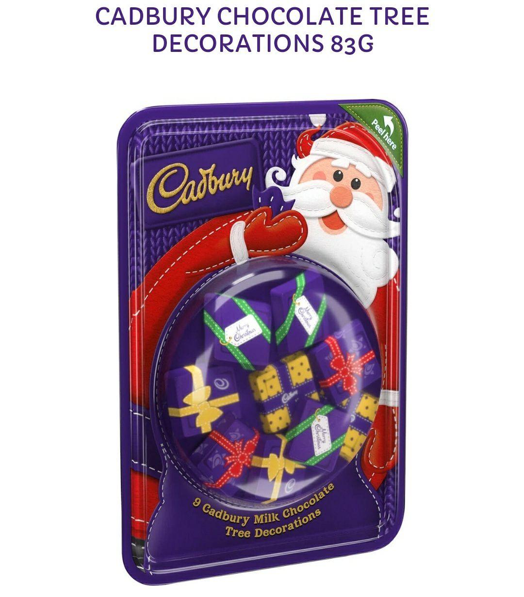 Cadburys Christmas Tree decoration chocolates 83g - 10p Instore @ B&M