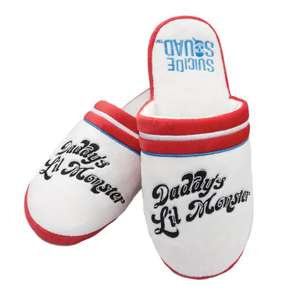 Official Dc Harley Quinn Daddy's Lil Monster Slippers £2.99 + Other Geeky Socks @ Geekstore (Free P&P)