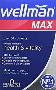Vitabiotics Wellman Max - 84 Tablets/Capsules - £10.24 @ Amazon Prime (+£4.49 non-Prime)