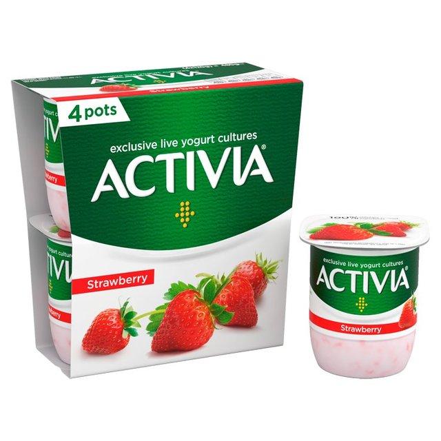 Activia 4 x yogurts (4 varieties) £1.00 @ Morrisons (0.30p via Checkoutsmart after cashback)