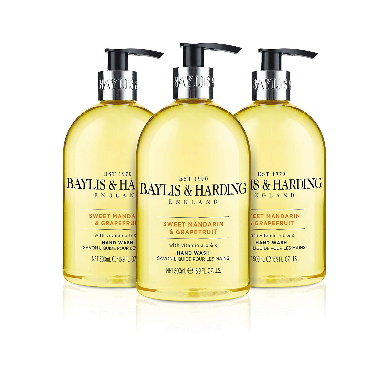 Baylis & Harding Sweet Mandarin and Grapefruit Hand Wash, 500 ml, Pack of 3 £4.50 @ Amazon Prime (£4.49 non Prime)