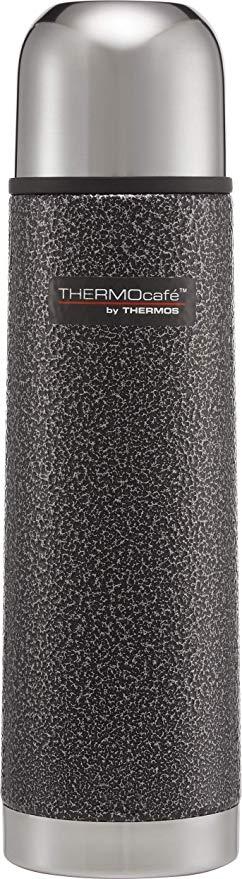 Thermos ThermoCafé Stainless Steel Flask, Hammertone Grey, 500 ml £6.00 @ Amazon Prime (£4.49 non Prime)