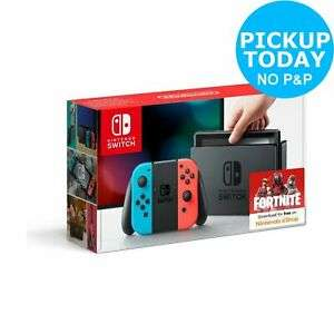 Nintendo Switch V1 - Neon - £224.99 @ Argos eBay (Selected Click & Collect Locations)