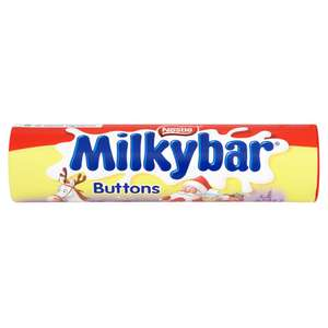 Milky Bar Button Tube 100g down to 49p at B&M