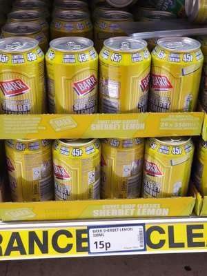 Barr Sherbet Lemon 330ml 15p @ Poundstretcher