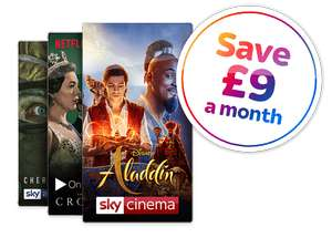 SKY Broadband Superfast + Talk Anytime + Entertainment + HD + Netflix £49pm for 18 months / £19.95 Upfront (£883.95 Total)