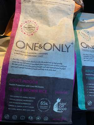 one & only naturally hypoallergenic dry cat food 2kg £1 @ pound stretcher