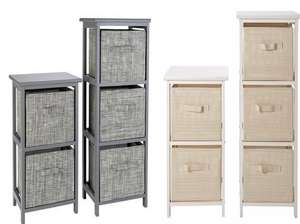 Argos Home 2 and 3 Drawer Bathroom Units - Grey or White + 2 Year Warranty - £37.50 + Free Click & Collect @ Argos