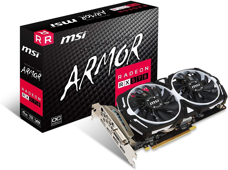 MSI Radeon RX 570 ARMOR OC 4 GB GDDR5 - £138.05 @ Amazon
