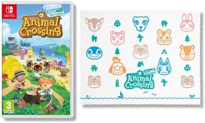 Animal Crossing New Horizons - Nintendo Switch Standard Edition + Animal Crossing Microfibre Cloth - £44.99 @ Amazon