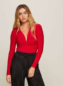 Red Twist Slinky Body £3.00 delivered with code at Miss Selfridge