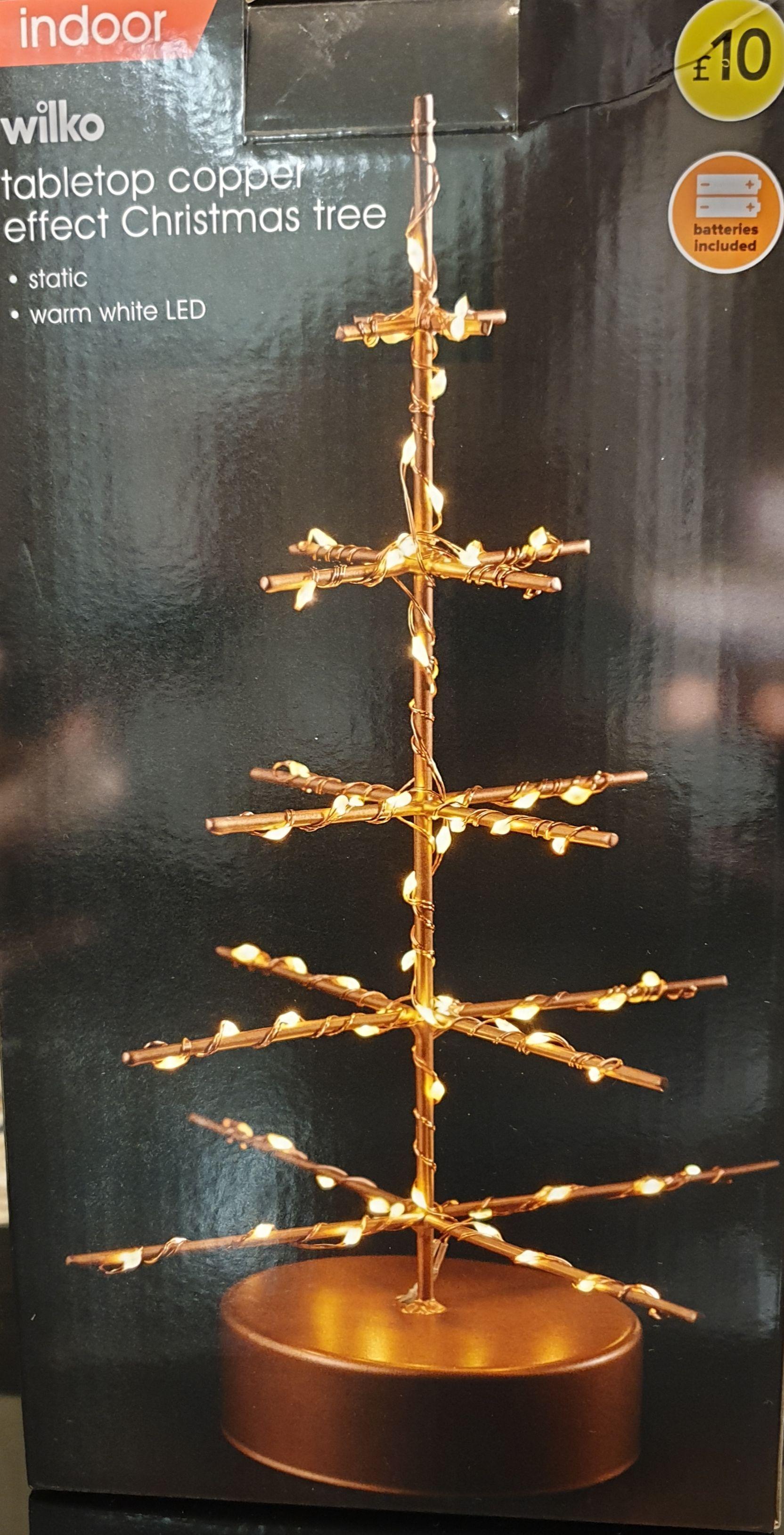 Wilko tabletop copper effect Christmas tree - £1 Instore @ Wilko (Barking)