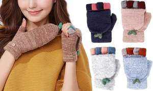 One or Two Pairs of Cashmere Blend Fingerless Gloves - £4.98 @ Groupon (+£1.99 Postage)