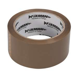 Fixman Brown Adhesive Packing Tape 48mm x 66m now £1.24 (Prime) + £2.99 (non Prime) at Amazon