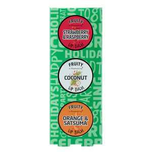 X3 Fruity Lip Balms 99p + Free Click & Collect @ Superdrug