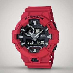 CASIO G-SHOCK RED GA-700-4AER Watch - £60.07 (With Code) @ MenKind