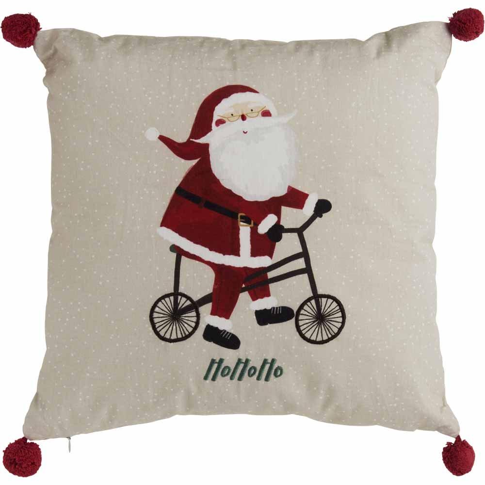 43 cms X 43 cms Santa Pom Pom Cushion , Now £2.40 @ Wilko