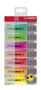 Highlighter - STABILO BOSS ORIGINAL Wallet of 8 Assorted Colours £5.99 + £4.49 NP @ Amazon