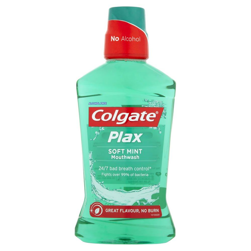 Colgate Plax 500ml Mouthwash : Soft Mint OR Mild Mint , Now £1.75 @ Wilko