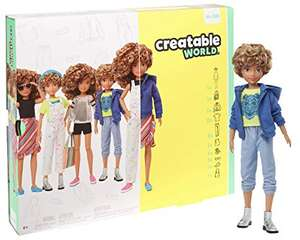 CREATABLE WORLD GGG56 Deluxe Character Kit Customisable Doll, Creative Play for All Kids Age 6 Plus, Blonde Curly Hair £21.63 @ Amazon