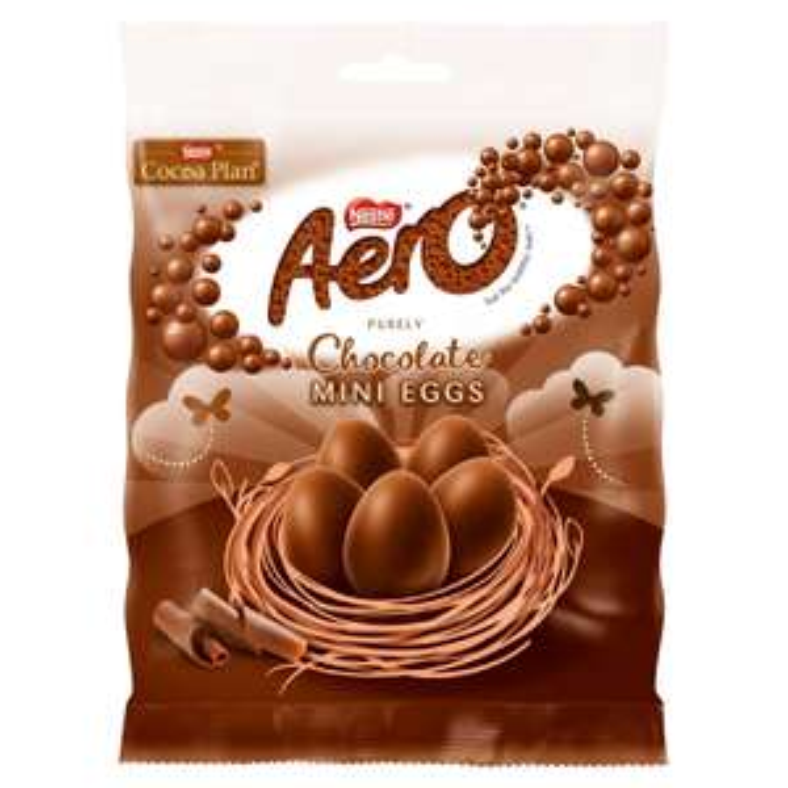 Aero mini eggs milk and peppermint varieties £1 at Tesco. 70g bag