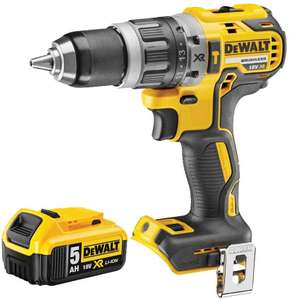 Dewalt DCD796N 18v XR Brushless Compact Combi Drill with 1 x 5.0Ah Battery DCB184, 18 V £68.99 @ Amazon