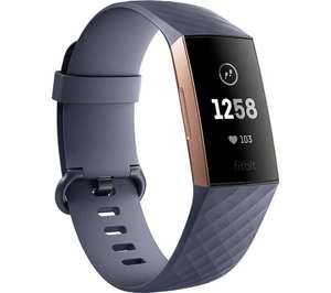 FITBIT Charge 3 - Black & Graphite, Universal £94.99 Delivered or c&c @ Currys PC World