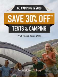 30% Off Tents & Camping at Millets