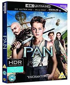 Pan 4k UHD blu ray £9.99 @Amazon prime (£2.99 p&p non prime)