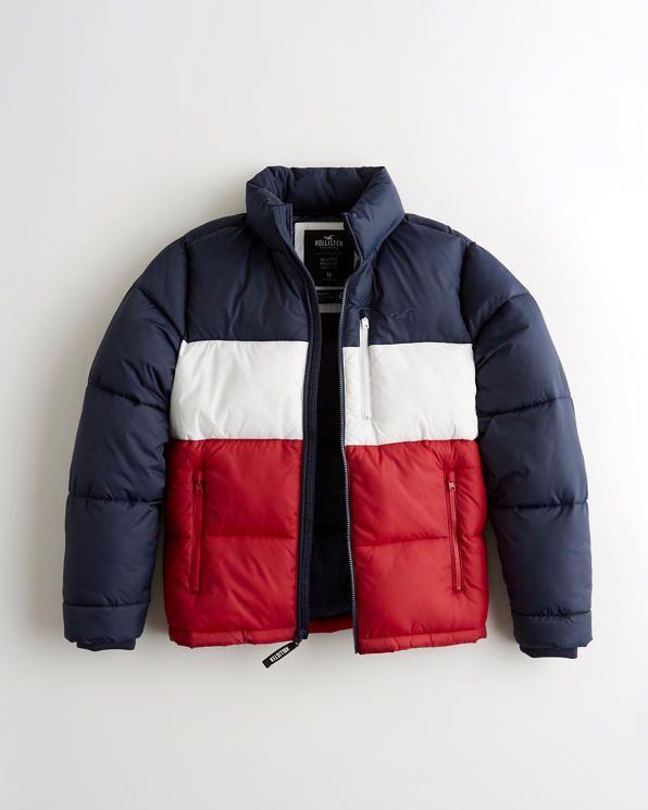 Hollister Mockneck Puffer Jacket £31.60 + £5 shipping at Hollister