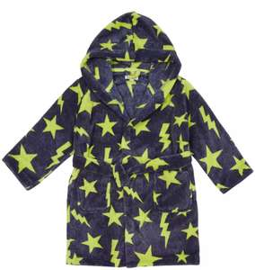 bluezoo Navy Star Children's Dressing Gown 12-18 Months £5, 18-24 Months £5.50, 3-4 years £6 + Free next day delivery with code @ Debenhams
