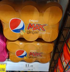 6 cans of Pepsi Max Ginger for £1.49 in-store @ Home Bargains (near Bury Mill Gate)