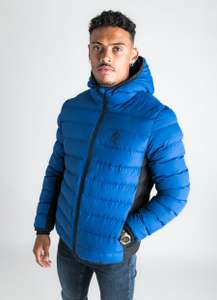 GK CORE Puffa Hooded Jacket - Sodalite Blue £27.99 at Gym King