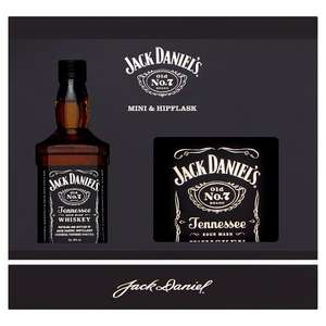 Jack Daniels Mini (50ml) and hip flask (3oz/85ml) gift set £1.75 @ Tesco West Durrington