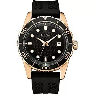 Bulova Men's Classic Sports Black Silicone Strap Watch £60.29 free delivery @ H Samuel