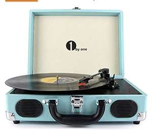 1byone Belt-Drive 3-Speed Portable Vinyl Turntable £36.54 Sold by Giant Jupiter and Fulfilled by Amazon