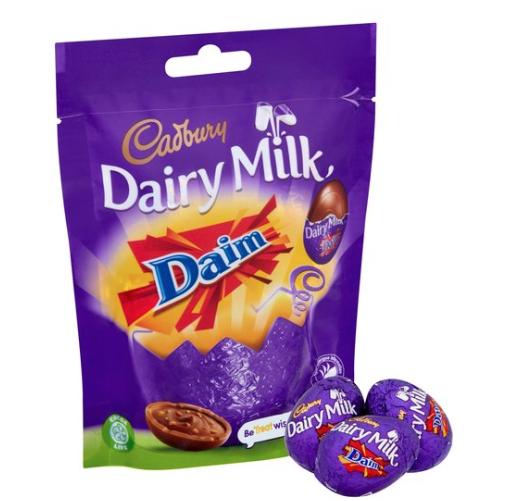 Cadbury Dairy Milk Chocolate Daim Mini Eggs 86G 90p @ Tesco