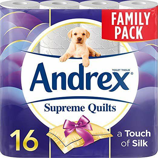 Andrex Supreme Quilts Toilet Tissue - 16 Rolls Prime Now - £5.20 Prime / +£4.49 non Prime @ Amazon
