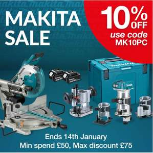 10% OFF MAKITA using Code - Min Spend £50 - @ FFX