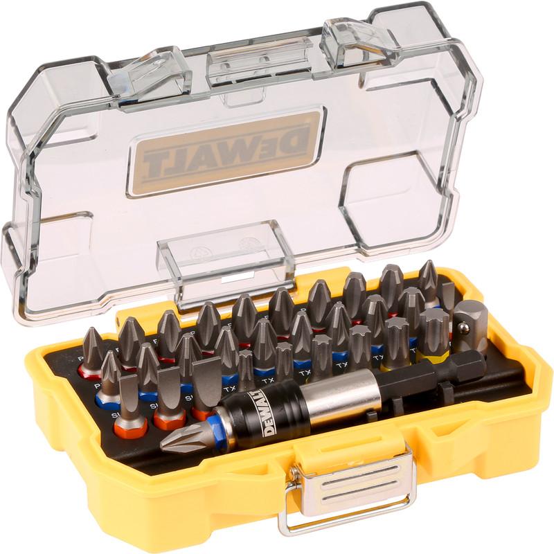 Dewalt Magnetic Bit Holder and 32 screwdriver bits - £9.98 + Free Click & Collect @ Toolstation