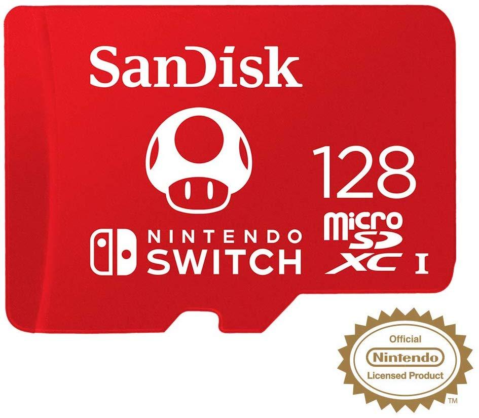 SanDisk 128 GB (SDSQXAO-128G-GNCZN) microSDXC UHS-I U3 Card for Nintendo Switch (100/90 MB/s R/W), for £17.99 prime/+£4.49 NP @ Amazon UK